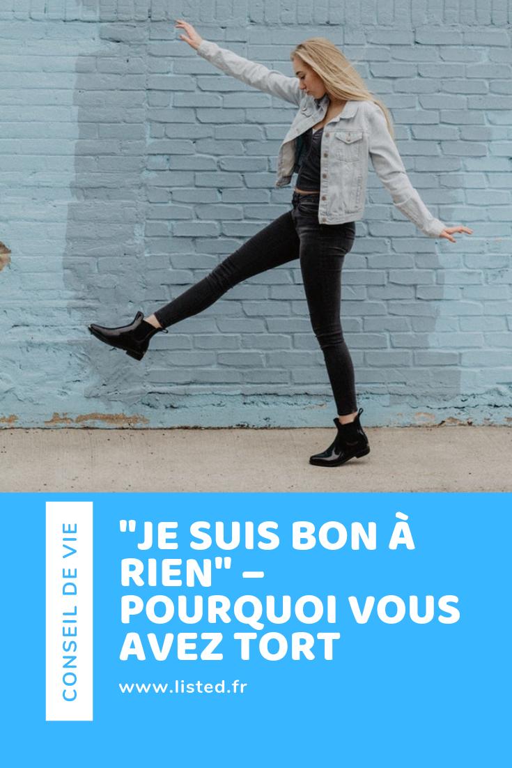 """""""JE SUIS BON À RIEN"""" – Pinterest"""
