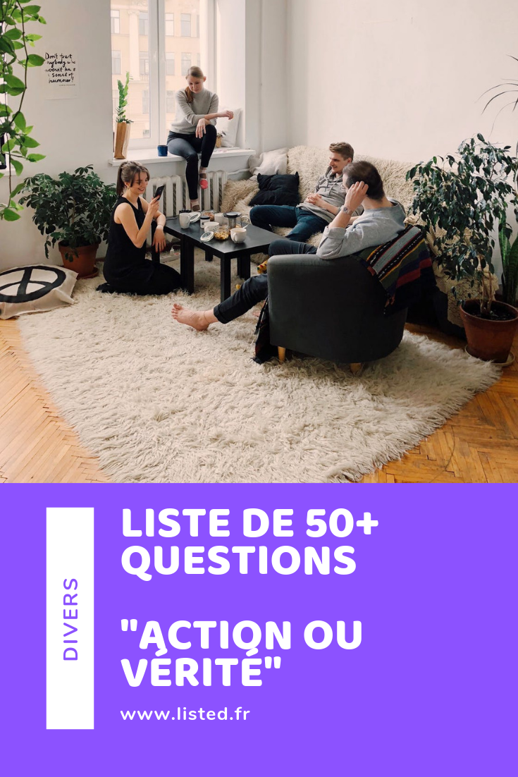 Questions Action ou Vérité – Pinterest